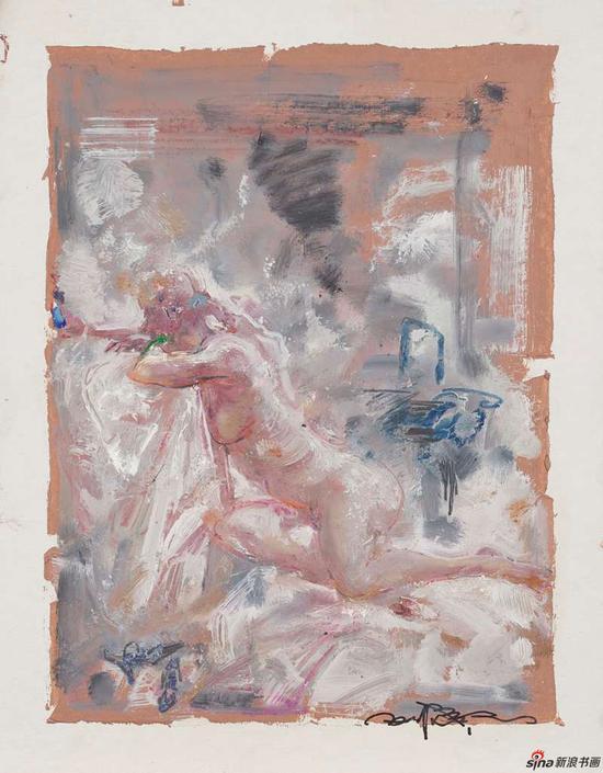 天光系列之二 纸本油画 34x26cm 2017