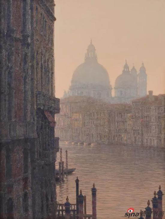 威尼斯 53×41cm 布面油画