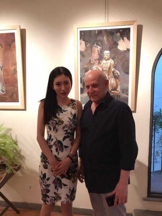 青年艺术家米巧铭与意大利著名当代艺术家Chanan Gardi