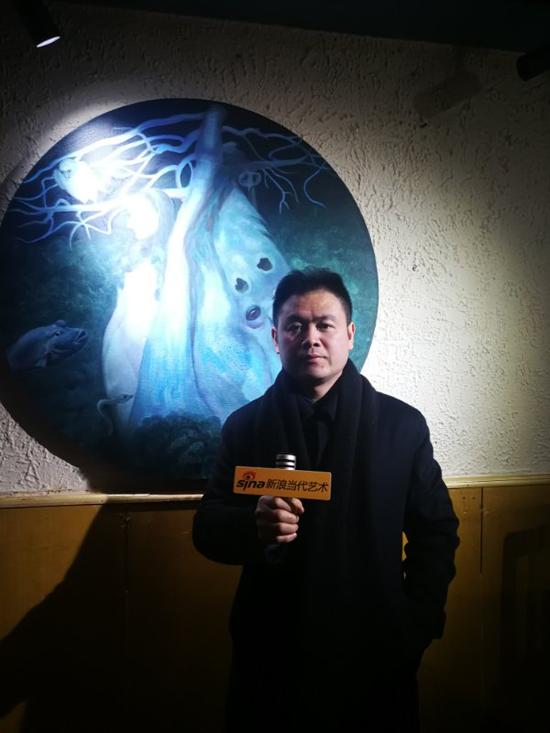 艺术家汪建国接受采访