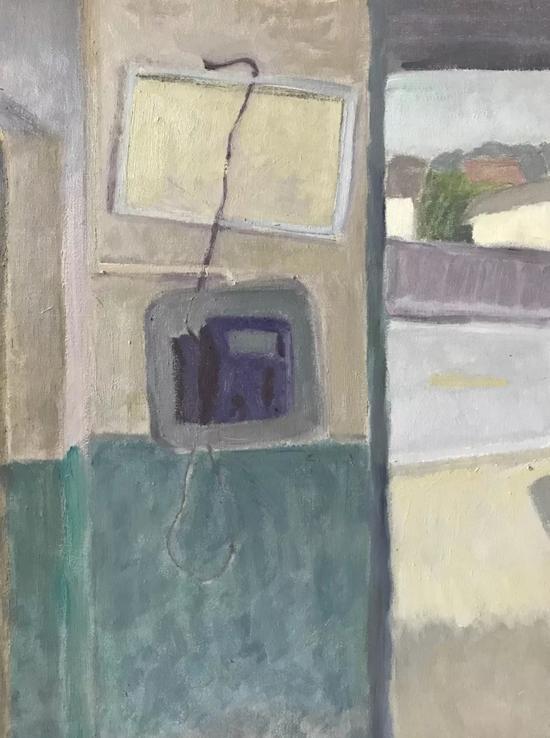 许波《角落》30x40cm2017年布面油画。webp