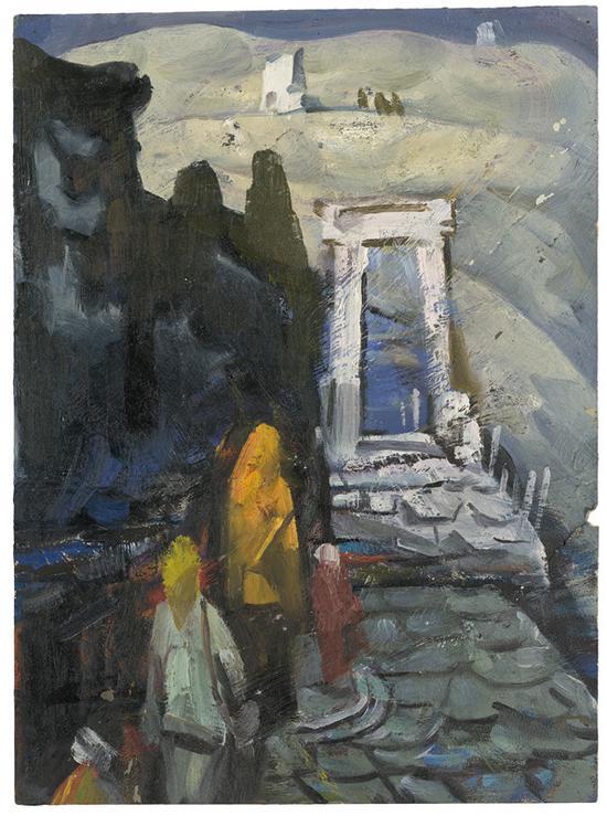 25-1 《塞外系列之六》油画33x24cm 1978年