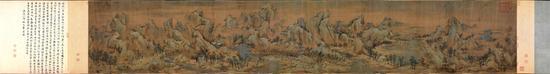 《江山秋色图》(国画)55.6×324厘米南宋赵伯驹故宫博物院藏