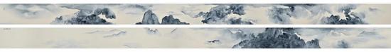 许振《海晏河清图》,1128x35cm,纸本,2017