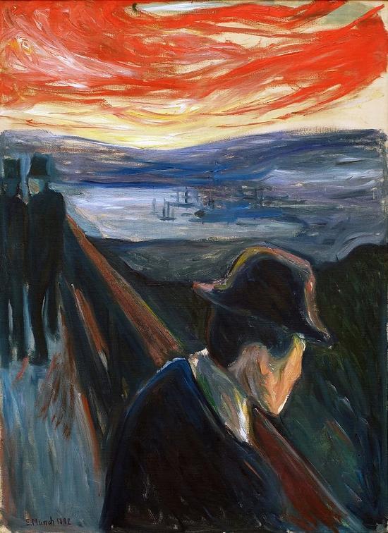 蒙克:孤独是时间留给他的自画像