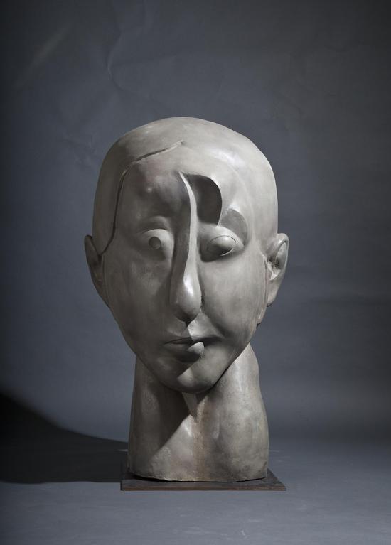 1988年 《秋瑾》之二(大头像) 铜 62x70x120cm