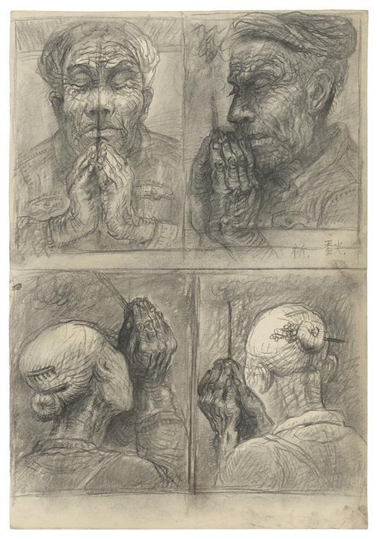 19 父亲手稿 素描 44x30.5cm 1979年