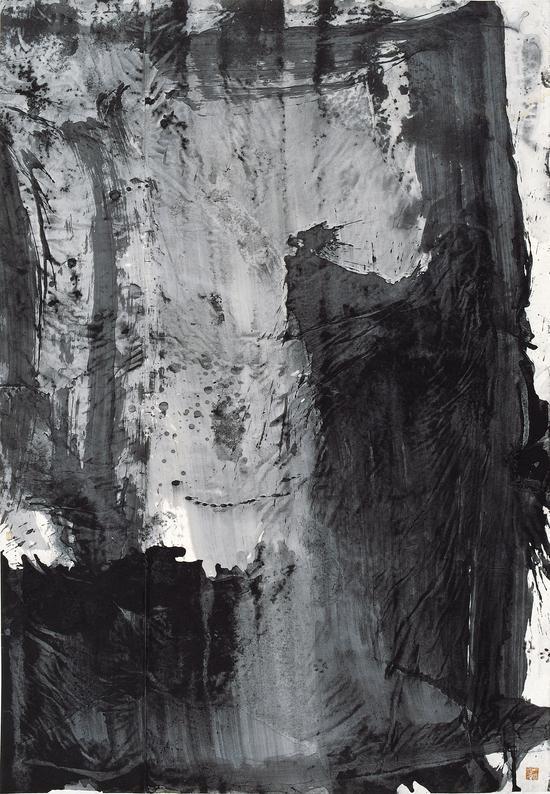 相思lovesickness No4,243.5cmx168cm,ink-painting on rice paper,zhenghui lan,2010,collected by british collector