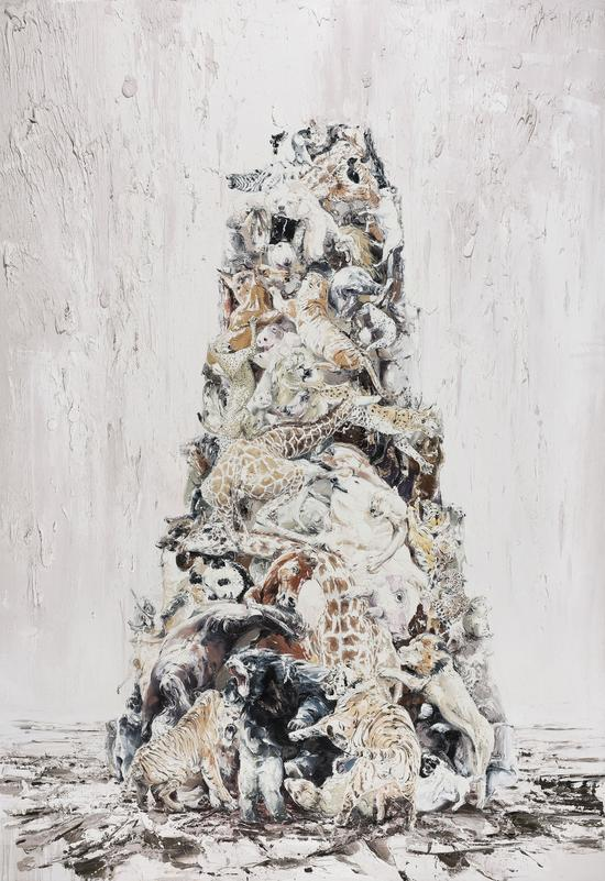 申树斌 巴别塔 380x260cm 布面油画 Oil on canvas 2017