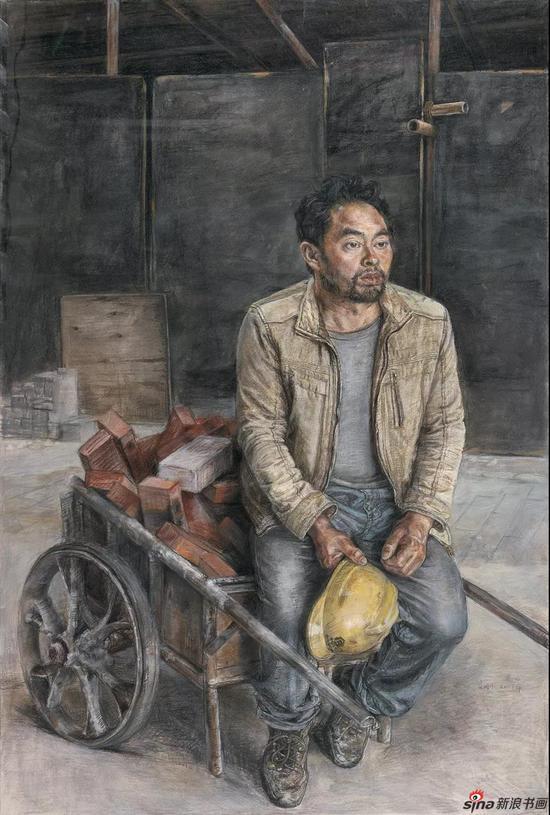 孙文刚[北京] 修路工 148×100cm