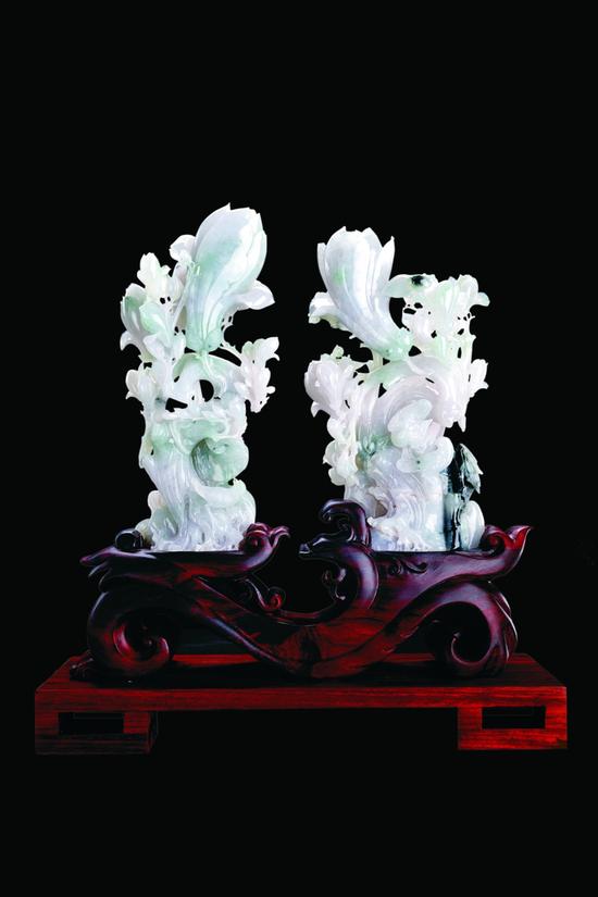 方卡东玉雕作品《芝兰玉树》