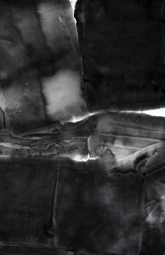 何伟作品 垠系列 2 46×70cm×3 幅 水墨 2017