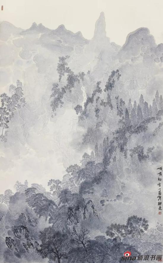张兴来 峨嵋初雪?国画 201cm×124cm