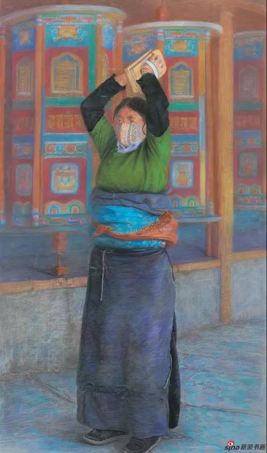 王屹[安徽] 拉卜楞寺之二 105×65cm