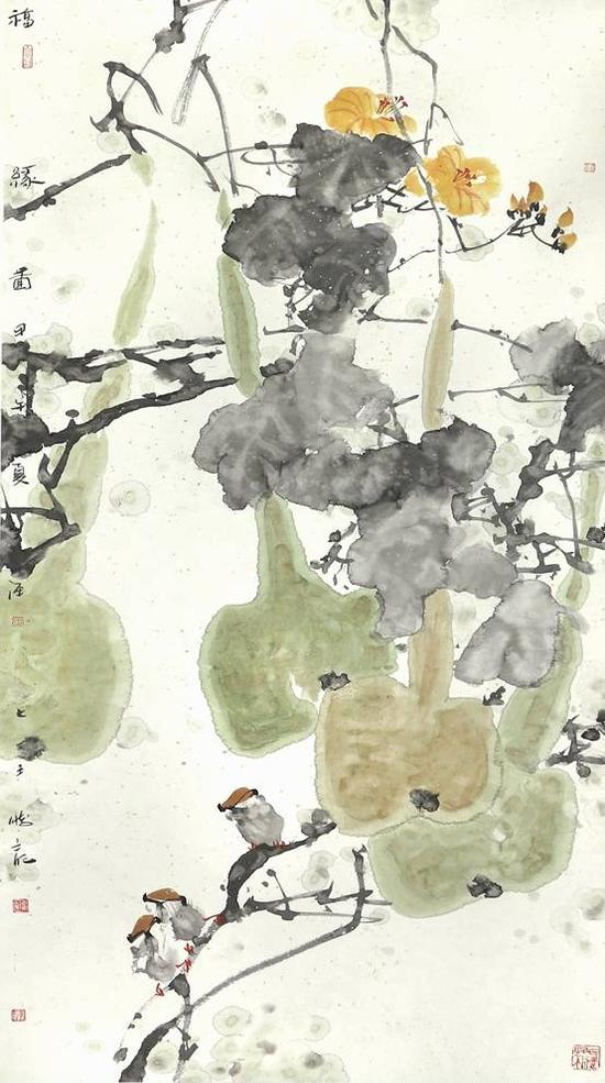 福缘图 138×68cm