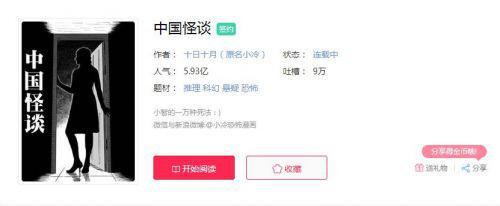 """网易漫画《中国怪谈》点击破6亿,国漫作者不甘只做中国版 """"伊藤润二"""""""