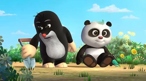 中捷合拍动画片《熊猫和小鼹鼠》剧照
