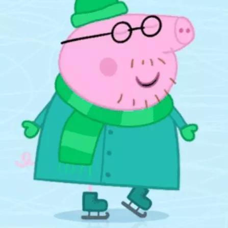 猪爸爸是佩奇和乔治的爸爸,会开车,也会做饭qaq