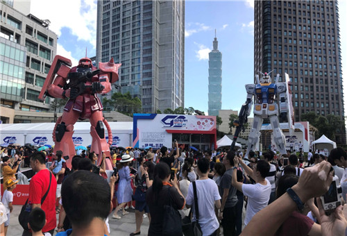 GUNDAM docks at TAIWAN
