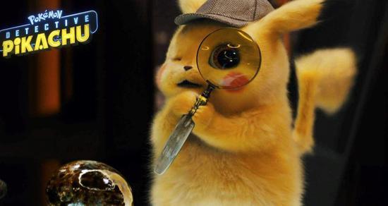 电影《大侦探皮卡丘》中动漫角色皮卡丘