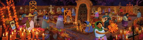 亡灵节的墓地