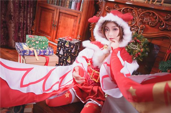 【cosplay美图】《王者荣耀》貂蝉(圣诞节ver.