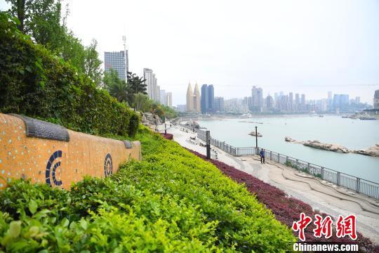 图为重庆南滨路滨江步道景色迷人。 陈超 摄