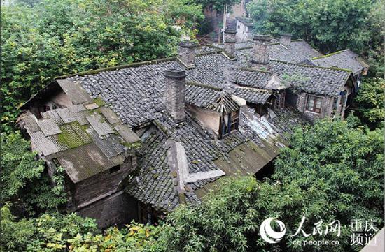 南岸区慈云寺棚改项目改造前。重庆市住房城乡建委供图