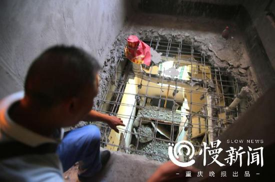 """负责28楼装修的施工方认为没有""""沉降层""""是造成他们误判的原因"""