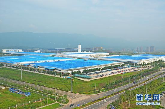 位于重庆两江新区鱼复工业开发区的汽车工厂。新华网发