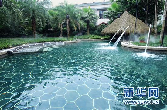 圖為重慶北碚海宇云水溫泉。新華網發(北碚宣傳部供圖)