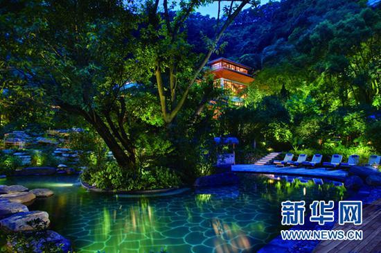 圖為重慶北碚北溫泉。新華網發(北碚宣傳部供圖)