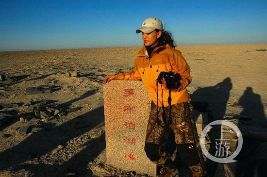 """△2007年,陈旻第一次穿越""""死亡之海""""罗布泊。"""