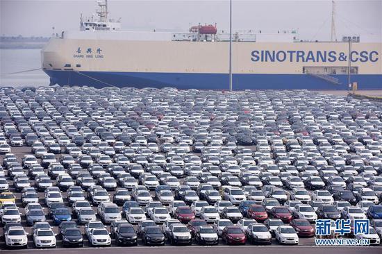 广东自贸区南沙新区南沙港汽车码头(2015年2月10日摄)。新华社记者梁旭摄