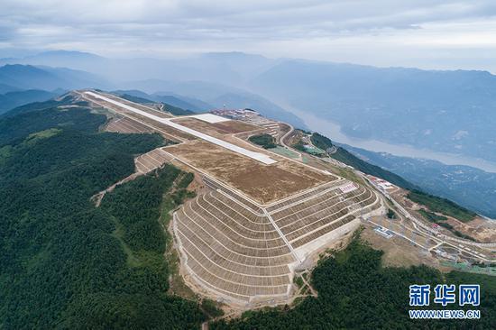 巫山机场全貌。新华网发(重庆机场集团供图)