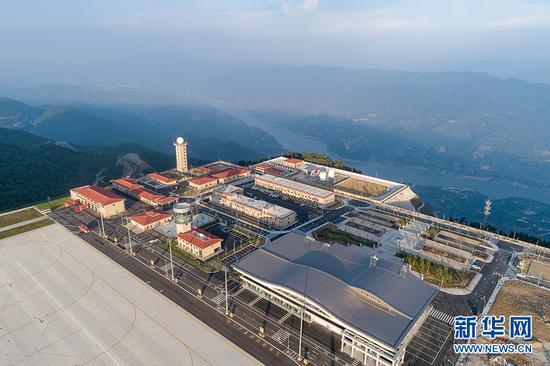 图为巫山机场航站楼。新华网发(重庆机场集团供图)
