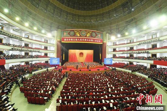 """2020年重庆市政府工作报告中提到,要着力构建""""一区两群""""协调发展格局。 陈超 摄"""