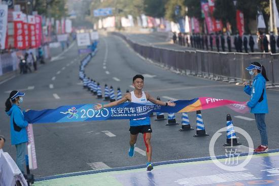 2020重庆马拉松赛决出男子冠军