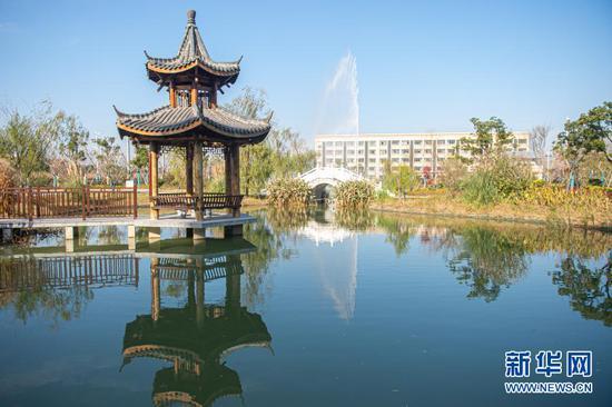 嘉兴市海盐县绿能环保项目园区景观(2020年12月17日摄)。新华社发(江汉 摄)