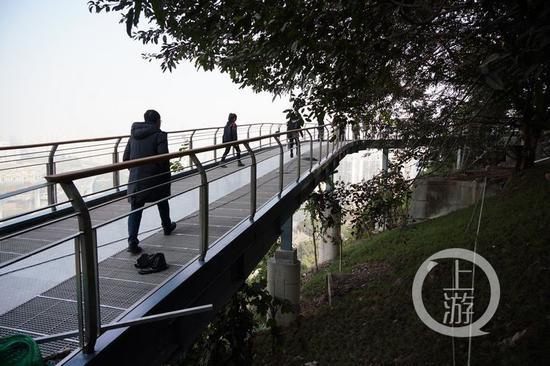 △即将开放的渝中区半山崖线步道