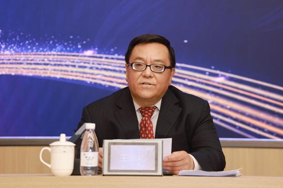 中国饲料工业协会常务副会长兼秘书长王宗礼介绍了展会的有关情况 主办方供图