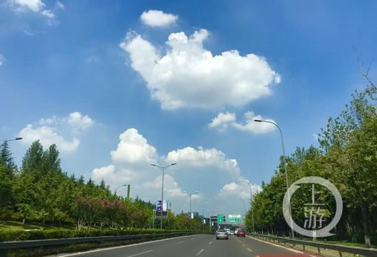 △20日,重庆主城秋高气爽。上游新闻记者 杨新宇 实习生 邓雨笛