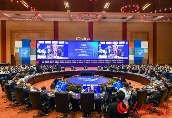 重庆市市长国际经济顾问团会议第14届年会在悦来国际会议中心召开。邹乐 摄