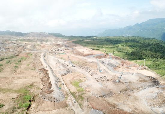武隆机场建设施工现场。 武隆机场建设指挥部供图 华龙网发