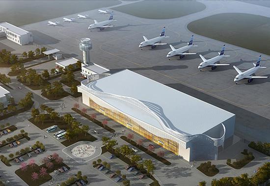 武隆机场效果图。 武隆机场建设指挥部供图 华龙网发