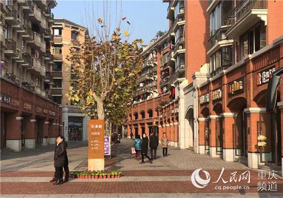 北碚区南京路老旧小区治理提升成果。重庆市住房城乡建设委员会供图