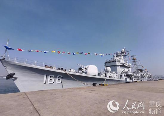 海军166舰。重庆建川博物馆供图