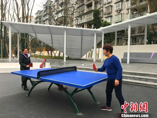 图为交付使用的凤鸣体育文化公园,市民打球锻炼身体。 钟旖 摄