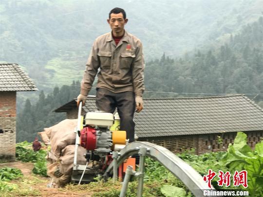 图为农户成运输机驾驶员。 钟欣 摄