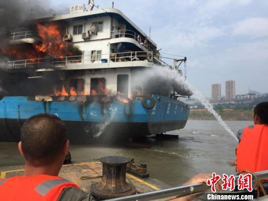 图为救援现场。长江重庆航道局供图